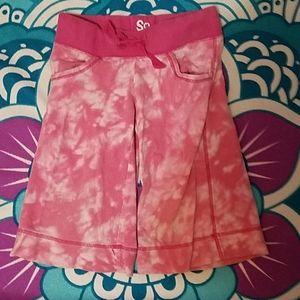 So tie-dye long cotton shorts